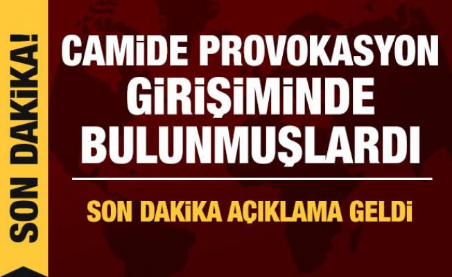 Gaziantep Valiliği'nden camide provokasyona ilişkin açıklama