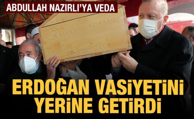 Hafız Abdullah Nazırlı son yolculuğuna uğurlandı! Erdoğan vasiyetini yerine getirdi