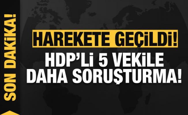 HDP'li 5 milletvekiline soruşturma