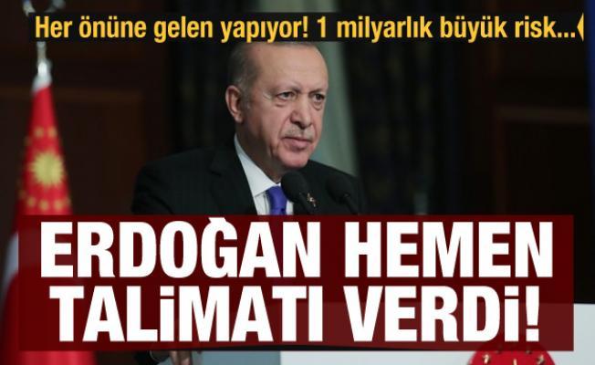 Her önüne gelen yapıyor! 1 milyarlık büyük risk... Erdoğan talimat verdi
