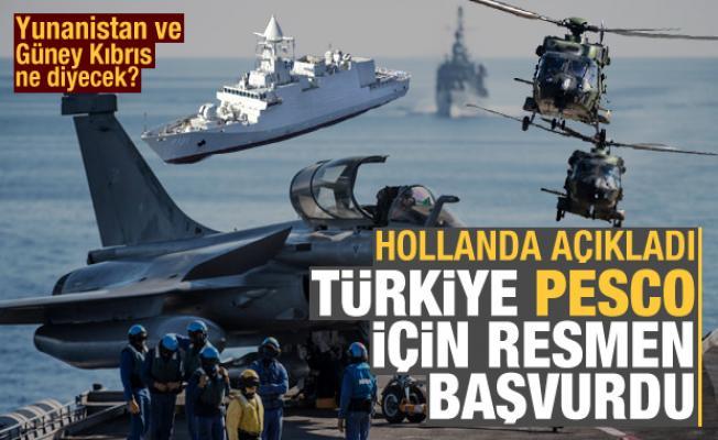 Hollanda açıkladı: Türkiye PESCO için resmen başvurdu