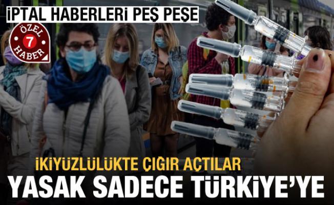 İptal kararları peş peşe geldi! Sadece Türkiye'ye yasak koydular