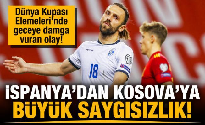 İspanya'dan Kosova maçında kriz!