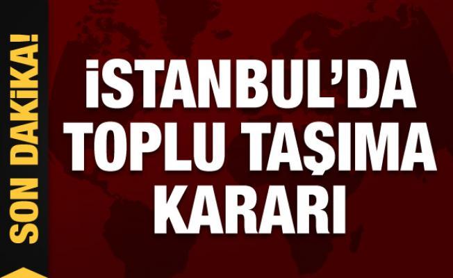 İstanbul'da toplu taşıma yasağı esnetildi