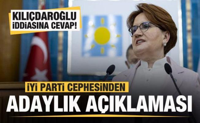 İYİ Parti cephesinden Kılıçdaroğlu açıklaması! Aday mı olacak?