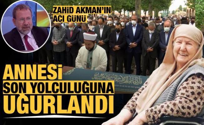 Kanal 7 Genel Yayın Yönetmeni Zahid Akman'ın annesi son yolculuğuna uğurlandı