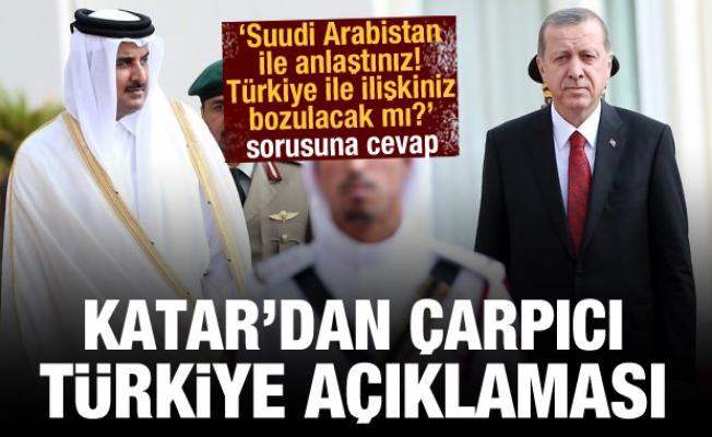 Katar'dan Türkiye açıklaması! 'Suudi Arabistan ile anlaşınca ilişkiniz bozulacak mı?' sorusu