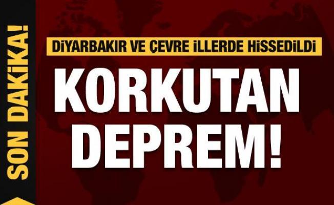 Korkutan deprem! Diyarbakır ve çevre illerde hissedildi