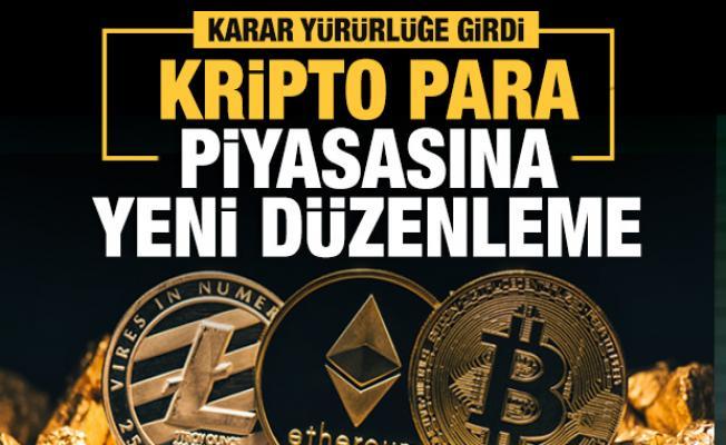 Kripto para piyasasına yönelik yeni düzenleme