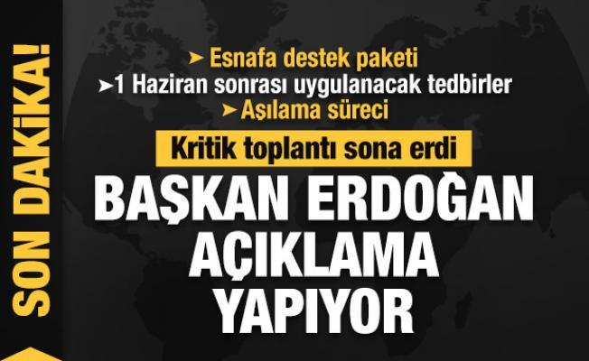 Kritik kabine toplantısı sona erdi! Başkan Erdoğan ulusa sesleniyor