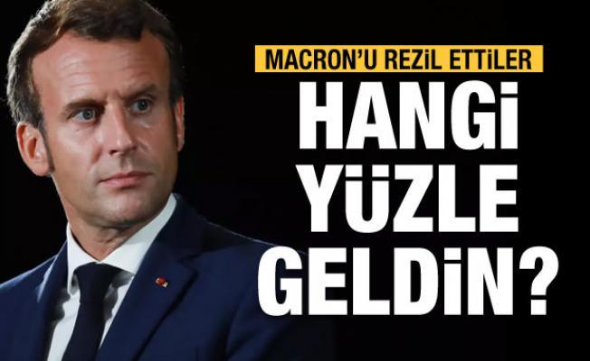 Macron'a sert tepki: Ne yüzle geldin!