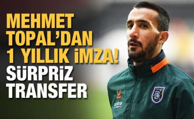 Mehmet Topal'dan Beşiktaş'a 1+1 yıllık imza