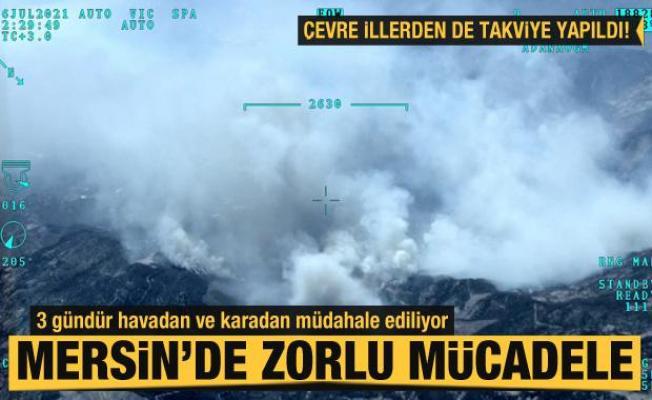 Mersin'deki orman yangını 3. gününde! Havadan ve karadan müdahale sürüyor
