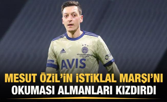 Mesut Özil'in, İstiklal Marşı okuması, Alman basınında gündem oldu
