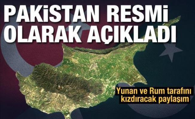 Pakistan'dan dikkat çeken KKTC paylaşımı