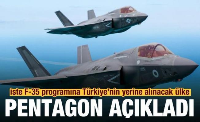 Pentagon duyurdu! İşte F-35 programına Türkiye'nin yerine alınacak ülke