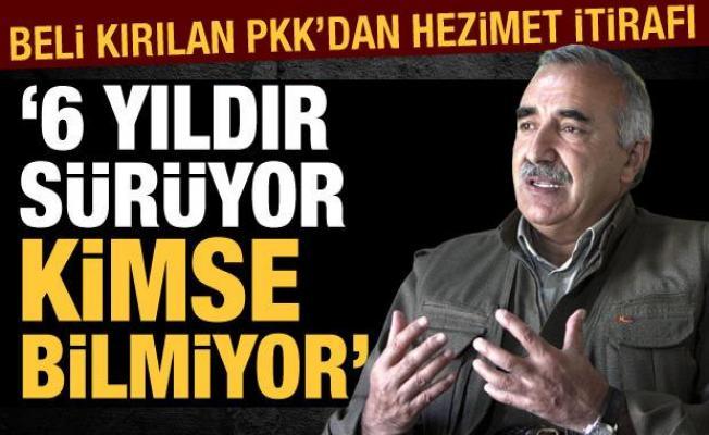 PKK elebaşı Karayılan'dan hezimet itirafı!