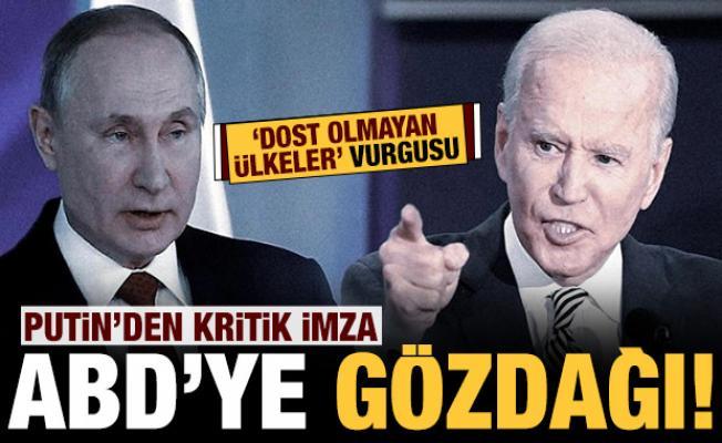 Putin'den kritik imza: ABD'ye gözdağı verdi!