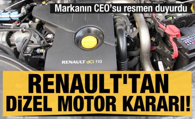 Renault'tan dizel motor kararı! Mecbur kalıp gözden çıkardılar