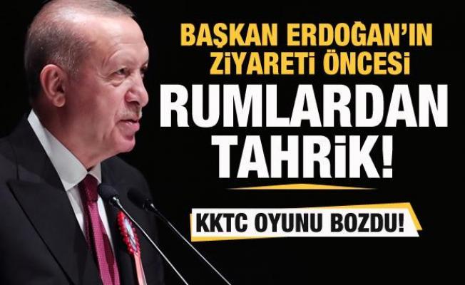 Rumlardan Başkan Erdoğan'ın ziyareti öncesi tahrik