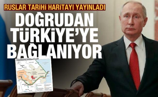 Rusya tarihi Dağlık Karabağ haritasını yayınladı! Doğrudan Türkiye'ye bağlanıyor