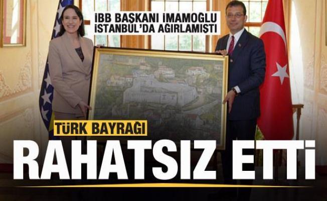 Saraybosna Büyükşehir Belediye Başkanı'nın Türk bayrağı hazımsızlığı