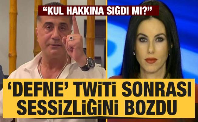 Sedat Peker'in 'Defne' tweetinin ardından Defne Samyeli'den açıklama