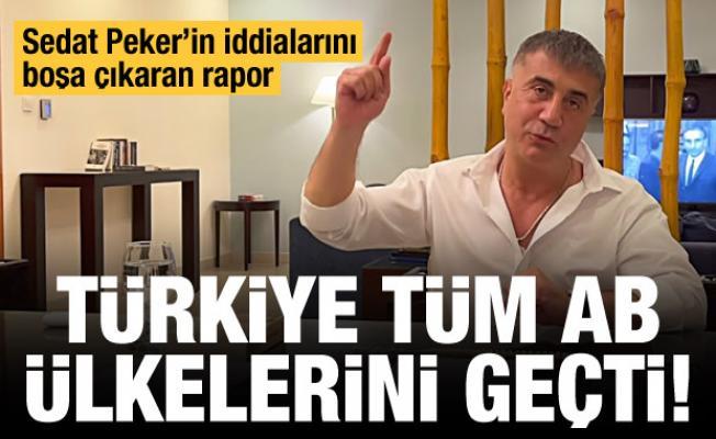 Sedat Peker'in iddialarını çürüten rapor! Türkiye tüm AB'yi geçti