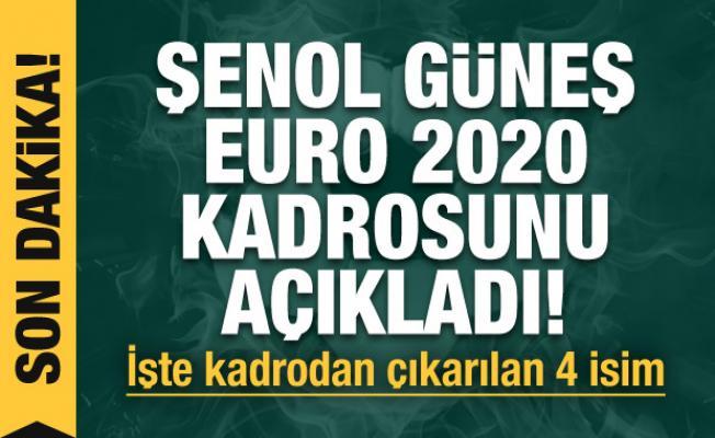 Şenol Güneş EURO 2020 kadrosunu açıkladı!