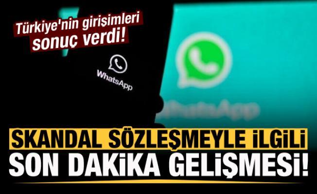 Skandal sözleşmeyle ilgili son dakika gelişmesi! Türkiye'nin girişimleri sonuç verdi