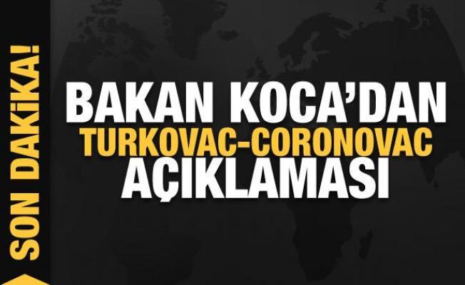 Son dakika... Bakan Koca'dan Turkovac-Coronovac açıklaması
