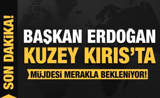 Son Dakika... Başkan Erdoğan KKTC'de