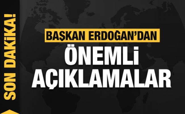 Son Dakika: Başkan Erdoğan konuşuyor