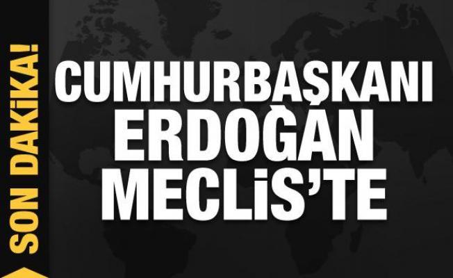 Son dakika: Cumhurbaşkanı Erdoğan Meclis'teki törene katılıyor