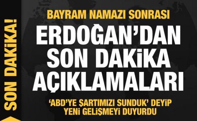 Son dakika: Erdoğan'dan taliban açıklaması! 'ABD'ye şartımızı sunduk' deyip duyurdu