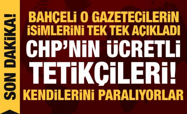 Son dakika haberi: Bahçeli'den altı gazeteciye tepki: Kendilerini paralıyorlar