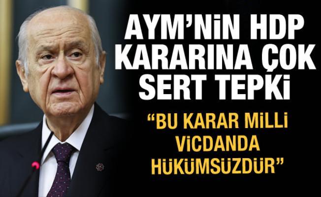 Son dakika haberi: Bahçeli'den AYM'nin HDP kararına tepki