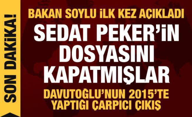 Son dakika haberi: Bakan Soylu'dan Sedat Peker açıklaması