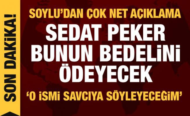 Son dakika haberi: Bakan Soylu'dan Sedat Peker hakkında önemli açıklamalar