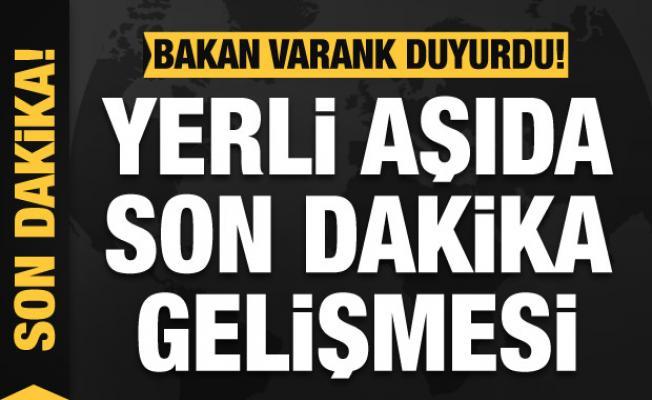 Son dakika haberi: Bakan Varank'tan yerli aşı açıklaması!