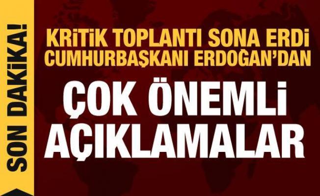 Son dakika haberi! Kabine toplantısı sona erdi, Erdoğan açıklama yapıyor