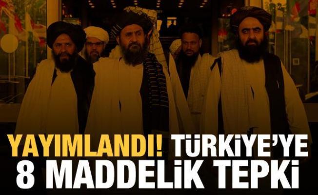 Son Dakika Haberi: Taliban'dan Türkiye'ye 8 maddelik tepki