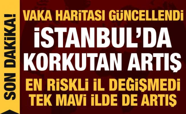 Son dakika haberi: Vaka haritası güncellendi, İstanbul'da korkutan artış