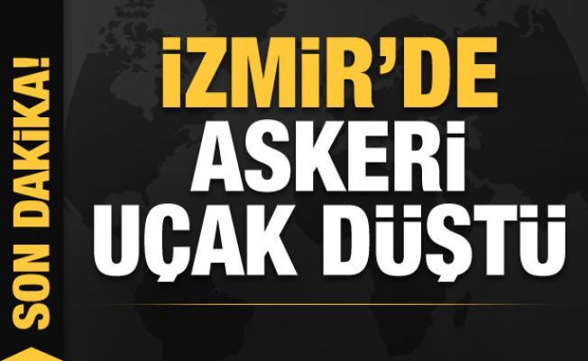 Son dakika: İzmir'de askeri uçak düştü! Bakanlık'tan açıklama