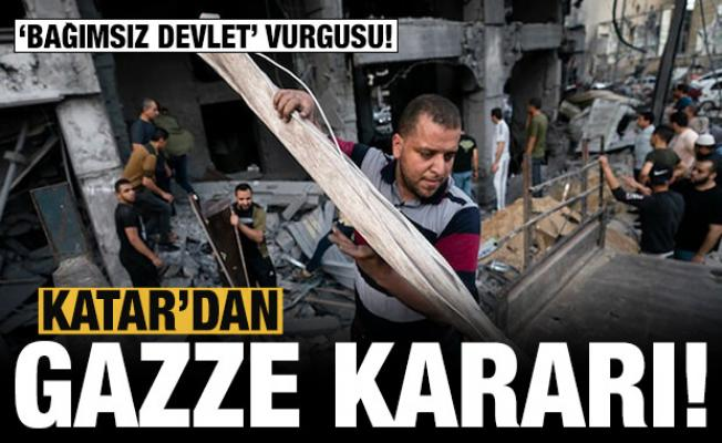 Son dakika: Katar'dan Gazze kararı!