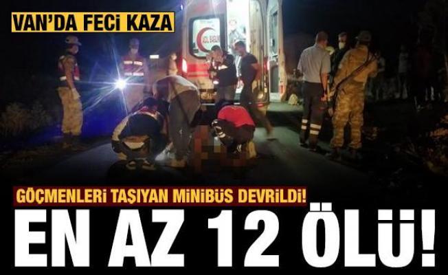 Son dakika: Mültecileri taşıyan minibüs kaza yaptı: 12 ölü, 20 yaralı