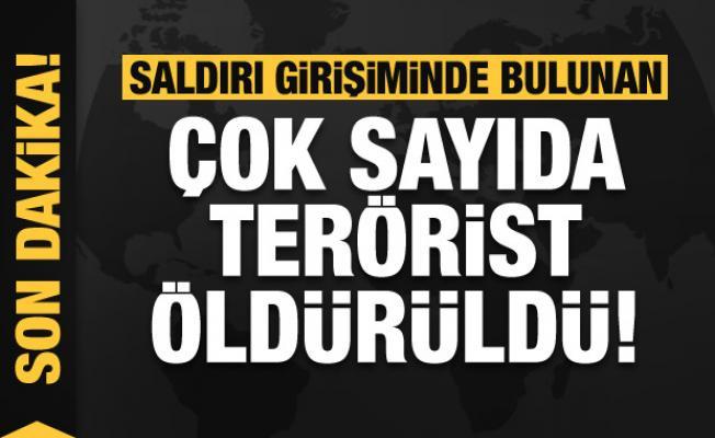 Son dakika: Saldırı girişiminde bulunan çok sayıda terörist öldürüldü