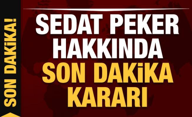 Son dakika: Sedat Peker hakkında yakalama kararı