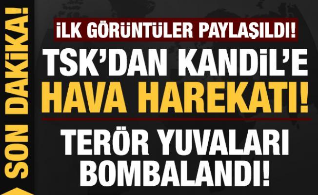 Son dakika: TSK'dan Kandil'e hava harekatı: Terör yuvaları bombalandı!