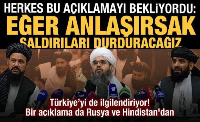 Taliban'dan Türkiye'yi de ilgilendiren açıklama! Bir açıklama da Rusya ve Hindistan'dan